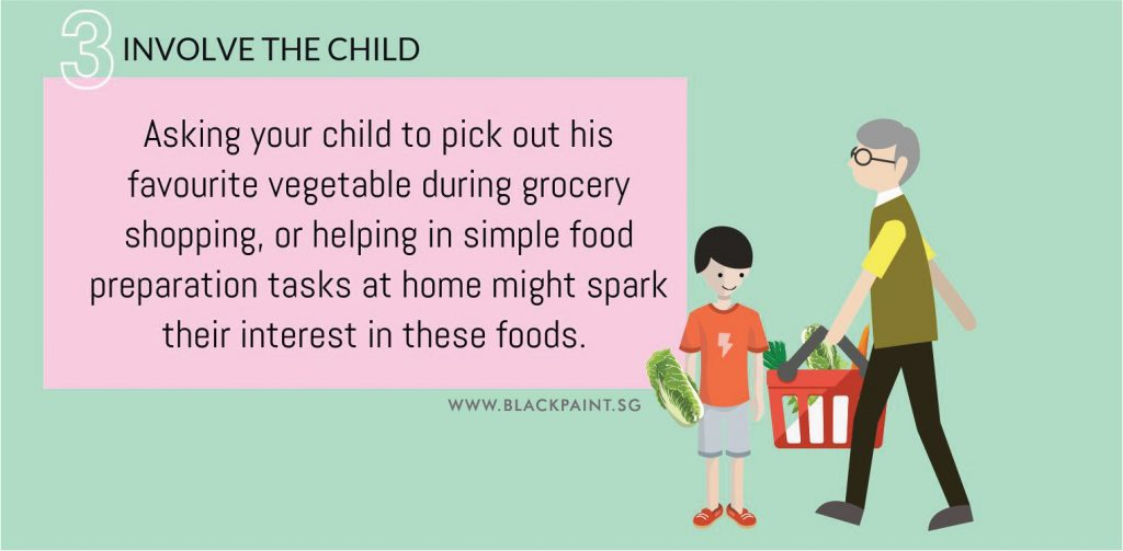 how to make my child like vegetables step 3 involve your child